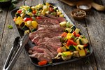 Italian Marinated Steak and veggies